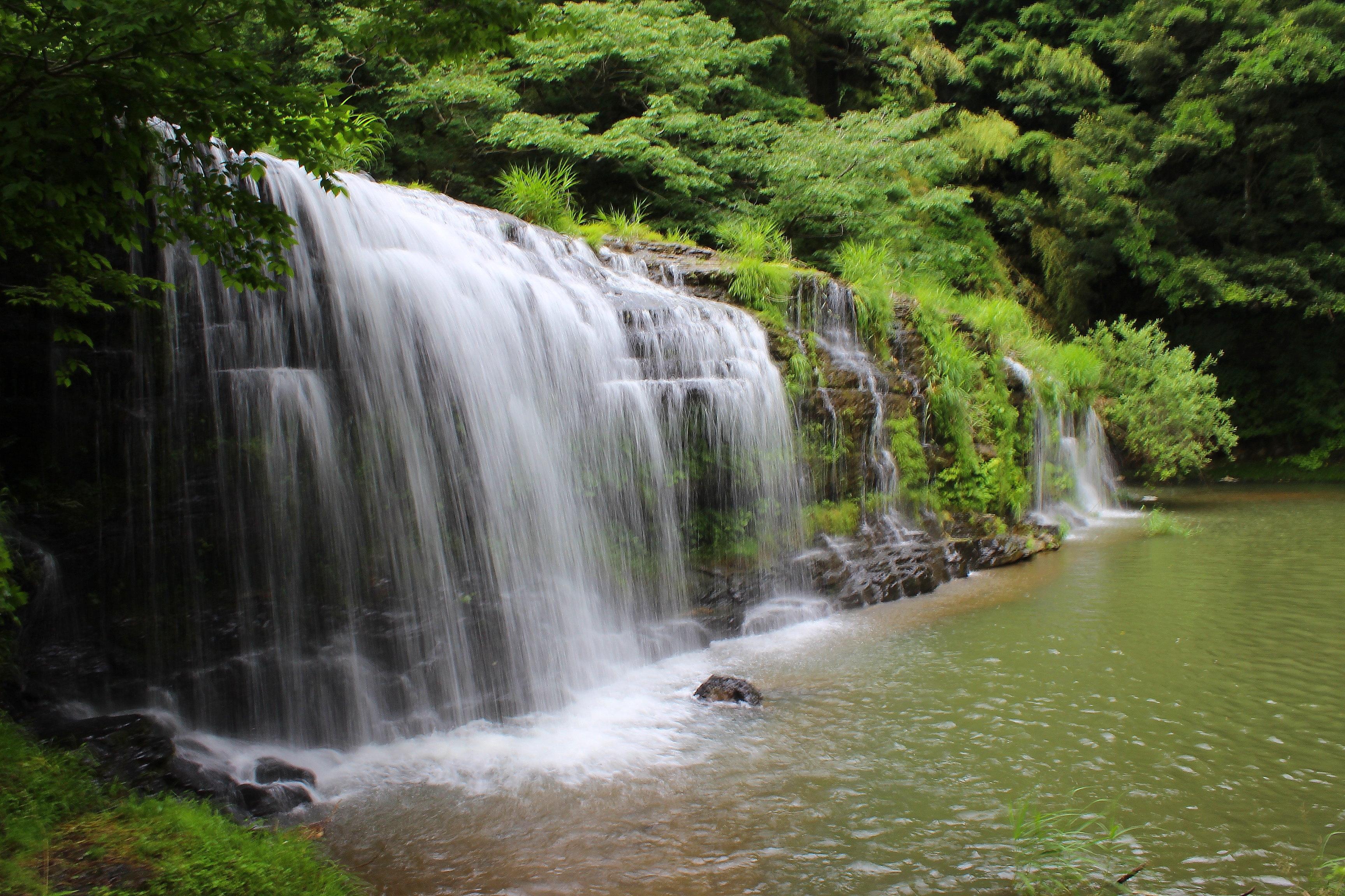 【宮島峡】一の滝、二の滝、三の滝と愉快な銅像たちを見てきた